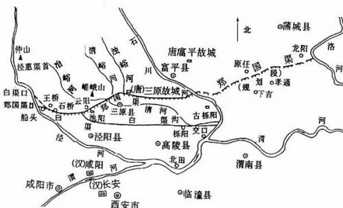 西起仲山西麓谷口(今陕西泾阳